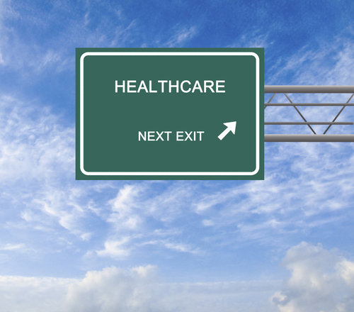 Road Sign to healthcare